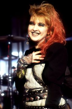 Cyndi Lauper, beautiful, crazy, unique, sparkly and lovable.