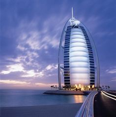 Travel | Architecture | The Jewel of Dubai. One of the city's most iconic buildings, the Burj Al Arab