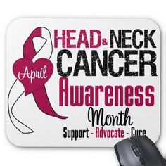 Head and Neck Cancer Awareness Month Mouse Mats