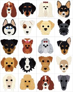 Dog Days Quilt Pattern FCP-030 (advanced beginner, wall hanging)