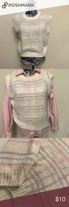 Currants by Jeri Sweater Vest Currants by Jeri Sweater Vest pink with pink and purple stripes Currants by Jeri Jackets & Coats Vests