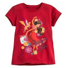 Disney Store Authentic Elena of Avalor Elena and Skylar Toddler Girls Tee Shirt