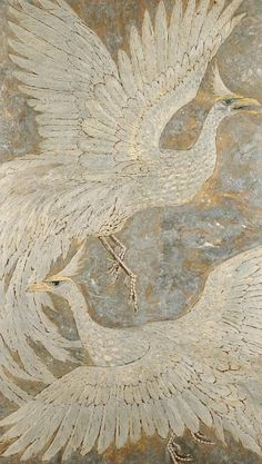 Unknown American artist, Two mythological birds (20th century)