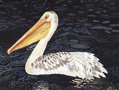 Pelican at Night - Original painting
