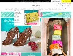 I like the use of imagery in the expanding nav menu.  http://www.katespade.com/