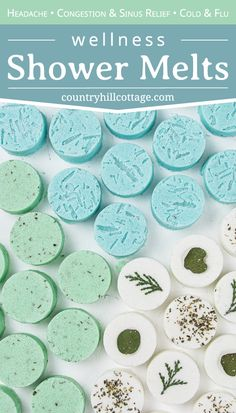 See how to make and use 3 DIY shower melts for health, wellness relaxation: relaxing eucalyptus shower bombs, decongestant peppermint shower fizzies with menthol crystals (DIY Vicks vapor rub shower melts) and headache shower steamers. The simple. Bath Bomb Recipes, Soap Recipes, Eucalyptus Shower, Savon Soap, Shower Steamers, Aromatherapy Recipes, Bath Melts, Diy Shower, How To Shower