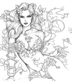 list of the Top 100 Comic Book Villains of All Time ranked Poison Ivy as Description from . I searched for this on /images Fairy Coloring Pages, Printable Adult Coloring Pages, Coloring Pages To Print, Coloring Books, Comic Book Villains, Top Villains, Grafiti, Colorful Drawings, Sketches