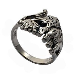 Elephant Ring by jewelkingthai on Etsy, $24.00