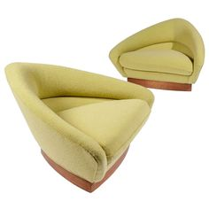 Pair of Adrian Pearsall for Craft Associates Triangular Lounge Chairs ca.1960's
