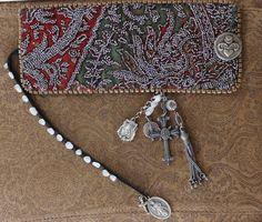 Antique Cut Steel Textile Cuff w/Antique Medals Antique by ALTaeR