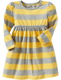 Jersey dresses---the perfect preschool outfit. Long-Sleeve Jersey Dresses for Baby | Old Navy