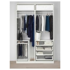 IKEA – PAX Wardrobe white Hokksund, high gloss dark blue black-blue IKEA – PAX Wardrobe white Hokksund, high gloss dark blue black-blue Pin: 2000 x 2000 Ikea Pax Wardrobe, Wardrobe Closet, Glass Wardrobe, Wardrobe Storage, Pax Closet, Wardrobe Design Bedroom, Modern Wardrobe, Modern Closet, Ikea Bedroom