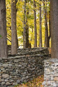 Andy Goldsworthy - Storm King Wall.  By Klaus Oppenheimer