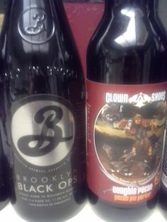One Amazing beer and another really good one.  The very rare Brooklyn Black Ops, Imperial Stout.  The other Clown Shoes Gengis Pecan Brown Ale.  Black Ops speaks for itself, and the pecan is really nice.