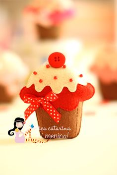 Como fazer cupcakes de feltro – Molde e Passo a passo – Inspire sua Festa ®
