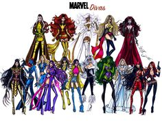 #MarvelDivas - My largest series to date. My personal fave will always be Storm since childhood. Which re-imagined #Marvel Diva do you love most?