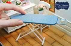 Miniature Collapsible Ironing Board - Different Colors! - Handmade Dollhouse…