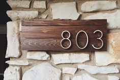 This Must Be The Place: 12 House Number DIY Ideas | Apartment Therapy