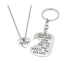 Ivy Gifts for Mom Mother Daughter Heart Necklace, Mother Daughter Jewe - Quan Jewelry Mother Daughter Jewelry, Father Daughter, Daughter Quotes, Best Friend Necklaces, Best Friend Jewelry, Engraved Necklace, Cat Necklace, Necklace Set, Friendship Necklaces