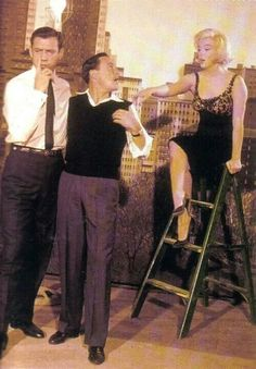 Yves Montand, Gene Kelly, and Marilyn