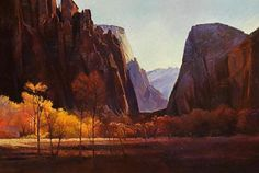 In the Heart of Zion Canyon by Dilleen Marsh Oil ~ 25 inches x 35 inches