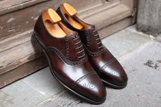 Carlos Santos Semi Brogue in Coimbra Patina