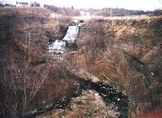 Albion Falls, Hamilton, Ontario  - the suicide of Jane Riley is documented here in the early 19th century; she threw herself off the top of the falls  - in the 1940's a young woman drove her truck over the cliff and died here also  -Jane  is still seen here and people have actually reported seeing her suicide replay itself from the top of the falls and she has been known to speak to visitors  - voices are heard, light anomalies.
