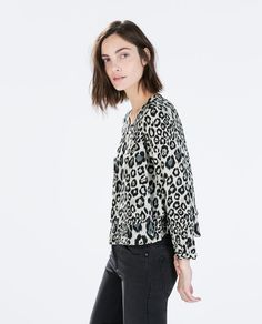 ZARA - WOMAN - DOUBLE LAYER PRINTED TOP
