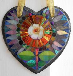 Hey, I found this really awesome Etsy listing at https://www.etsy.com/uk/listing/257175177/floral-mosaic-on-a-slate-heart