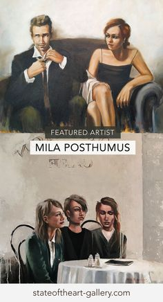 Mila Posthumus paints contemporary figures, drawn from her own life. Discover more at Stateoftheart-Gallery.com Love Radio, Arched Eyebrows, Johannes Vermeer, Andrew Wyeth, Time Painting, Favorite Subject, Norman Rockwell, Figurative Art, Impressionist