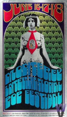 The Who Poster from Monterey Fairgrounds