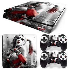 PS4 Slim Playstation 4 Console Skin Decal Sticker Harley Quinn Custom Design Set #ZoomHit
