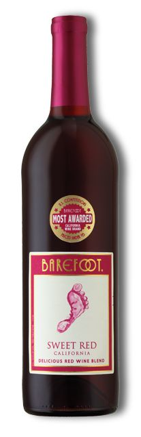 Barefoot Sweet Red California Wine Moo Etiquette Vin