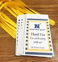 Personalized Gift Tag USNA Commissioning Week Gift Bag NAVY