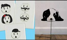 Enchufes electricos decorados