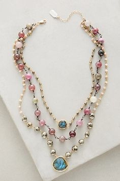 Layered Gemstone Necklace #anthropologie
