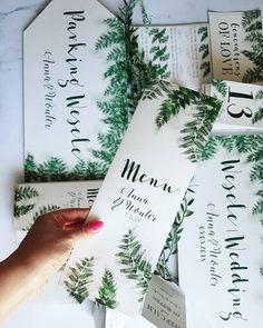 """Menu weselne z botanicznej kolekcji """"Cień Paproci"""" 🌿 🌿🌿#projektslub #dodatkislubne #dodatkiweselne #wesele2018 #slub2018 #pannamloda2018 #papeteriaslubna #zaproszeniaślubne #menuweselne #pannamloda #slub #paproc #botaniczne #botanical #botanicalwedding #greenery #greenerywedding #botaniczny #slub2018 #slubnaglowie #papergoods #papeteriaslubna #poligrafiaslubna #design #projektślub #slubnedetale #slubneinspiracje #zielone"""