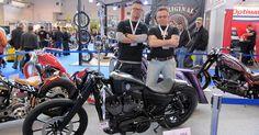 Winston Yeh and his Award winning modified Harley.