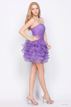 outdoor bridesmaid dresses Lovely Strapless Sweetheart Pleated Short Organza Dress $119.98