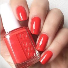 Make the transition into fall seamless and bright with #colorbinge the addictive red orange shade from our new fall collection.  #nailpolish #manicure