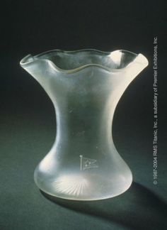 Fluted Crystal Vase - Vases of fresh flowers were often found in public and private rooms on Titanic.