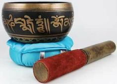 """4"""" Tibetan Singing Bowl by The Wise Sage. $36.60. A powerful instrument of meditation and prayer, the singing bowl is sometimes used to accompany mudras, sudras, and other such hymns and prayers. The vibration that is felt in the brass when it is struck and played is often held to help remove negative energy and help find peace within meditation, aligning the chakras, and other such ritual practice. Much like other bells and noise makers, they can also be used in chasing o..."""