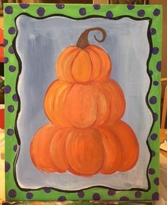 Easy canvas painting for beginners step by step. Learn how to paint a pumpkin topiary painting on canvas! Paint this and more fall canvas paintings! Pumpkin Canvas Painting, Autumn Painting, Pumpkin Topiary, A Pumpkin, Step By Step Painting, Paint Party, Learn To Paint, Fall Halloween, Halloween Decorations