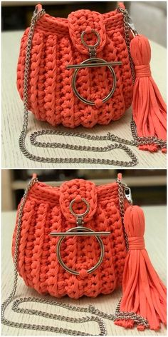 adorable crochet ladies bag Gurt Creative And Attractive Crochet Ideas And Projects - Diy Rustics Crochet Belt, Crochet Purse Patterns, Crochet Tote, Crochet Handbags, Crochet Purses, Crochet Slippers, Crochet Crafts, Crochet Stitches, Crochet Projects