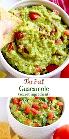 This is the seriously BEST guacamole recipe, and it is super simple to make. It also has amazing flavor thanks to my super secret, game-changing ingredient. #guacamole #recipe