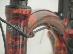 Bike Pintura Customizada Fogo Vermelho
