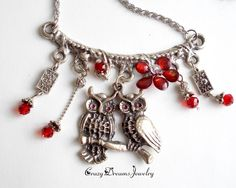 REPIN NOW for later :) New to CrazyDreamsJewelry on Etsy: Silver owl necklace Cool fashion necklace Necklace for women Owl necklace Owl charm necklace Silver pendant necklace Owl jewelry Pedant (28.00 USD)