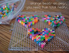 Margot Potter: Last Minute Gifty Cheap and Easy Crafts: DIY Perler Beads Candy Hearts Necklace