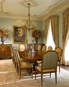 Dining Room Homes built by Dan Hutts Dining Room Walls, Dining Room Furniture, Traditional Dining Rooms, Traditional Kitchens, Dining Room Table Centerpieces, Classic Dining Room, Living Room Decor Inspiration, Beautiful Dining Rooms, Tuscan Decorating