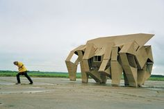 Theo Jansen (The Hague, The Netherlands) moving sculpture.